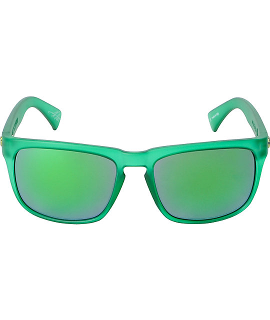 Electric Knoxville Dollar Bill & Green Chrome Sunglasses