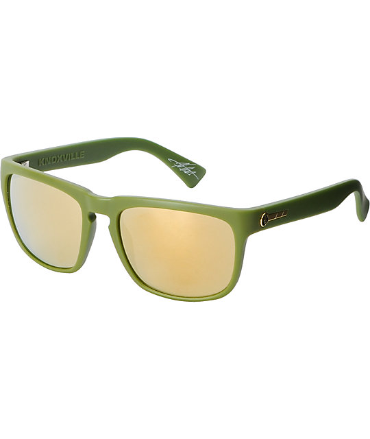Electric Knoxville Matte Green & Bronze Sunglasses