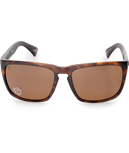 bfd26ded2b6 ... Electric Knoxville XL Matte Tortoise Shell Polarized Sunglasses