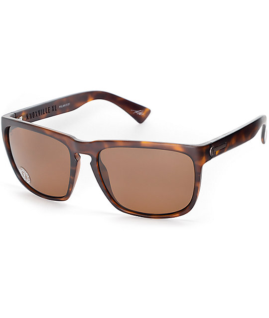 Electric Knoxville XL Matte Tortoise Shell Polarized Sunglasses ...