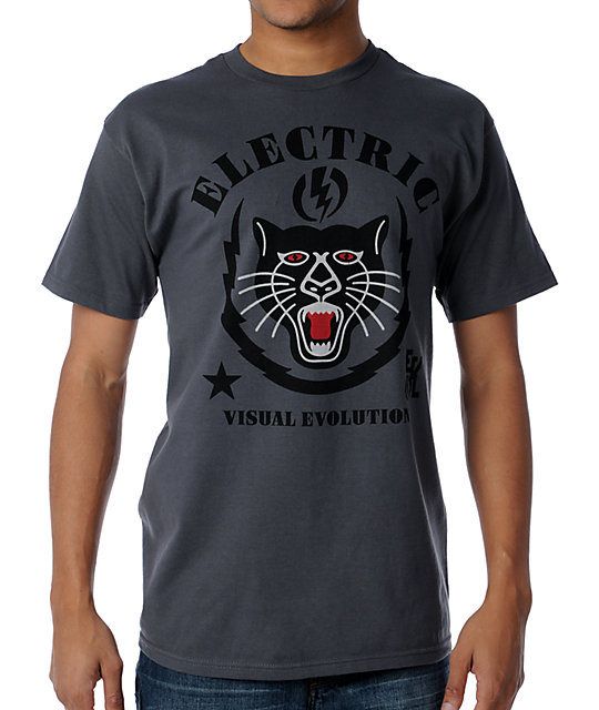 Electric Night Prowler Charcoal T-Shirt