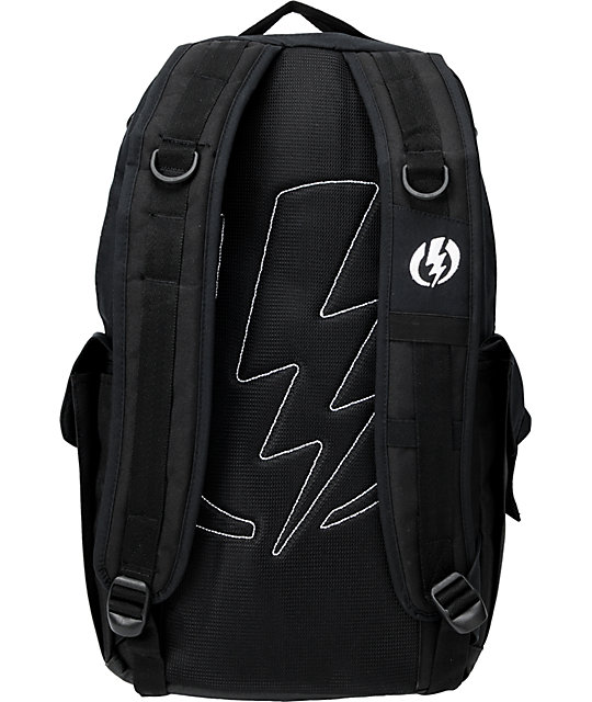 Electric Recoil Black Skate Backpack