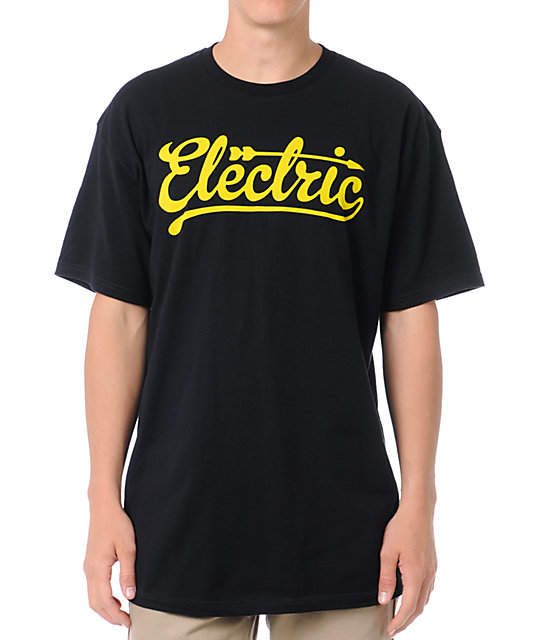 Electric Scribe Black T-Shirt