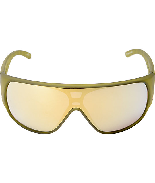 Electric Shaker Army Green & Gold Sunglasses