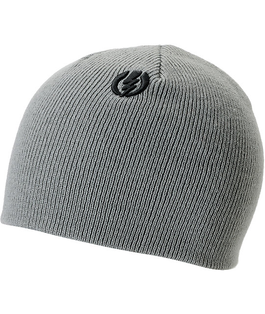 Electric Short Gauge Grey Fitted Beanie  ab976c6adc8