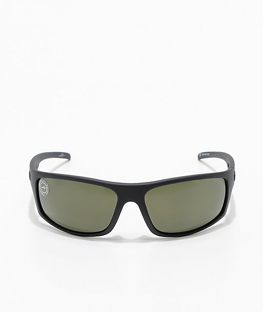 Electric Tech One Matte Black & Grey Polarized Sunglasses