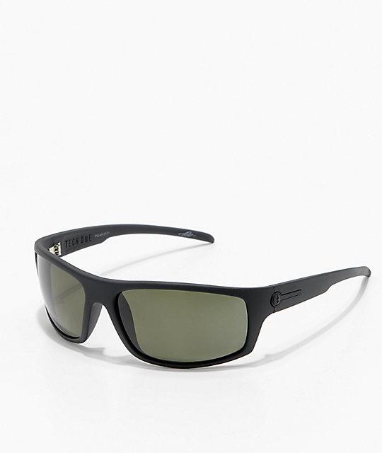 a807ef09ac5 Electric Tech One Matte Black   Grey Polarized Sunglasses