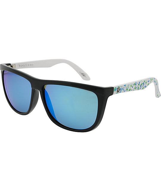 Electric Tonette Blue & Green Splatter Chrome Sunglasses