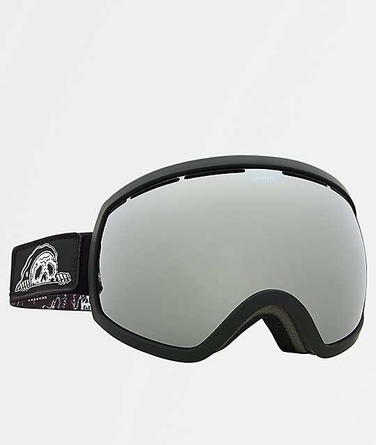 Electric x Sketchy Tank EG2 Black Silver Chrome Snowboard Goggles