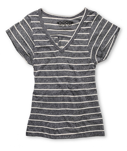 Element Alba Stripe Black T-Shirt