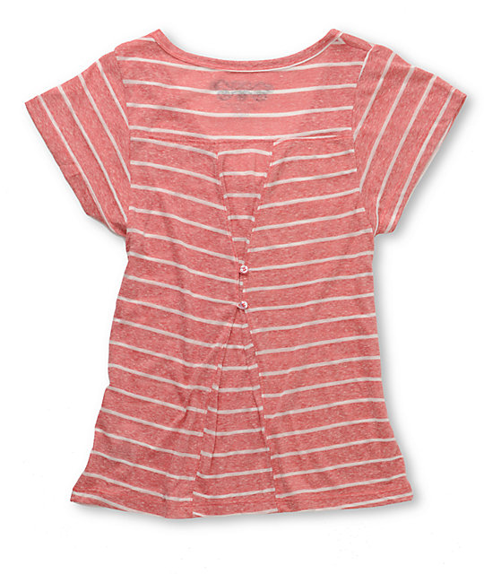 Element Alba Stripe Red T-Shirt