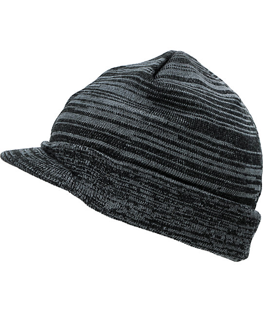Element Arapahoe Black & Rasta Visor Beanie