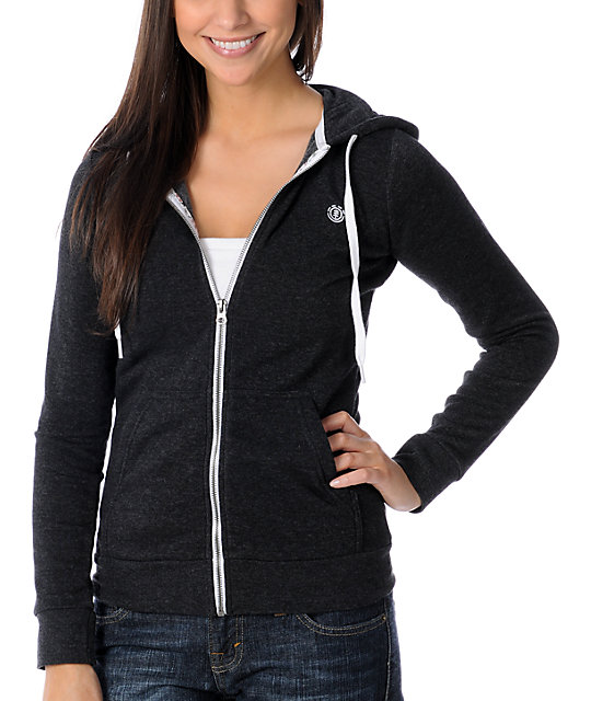 Element Bliss Black Zip Up Hoodie