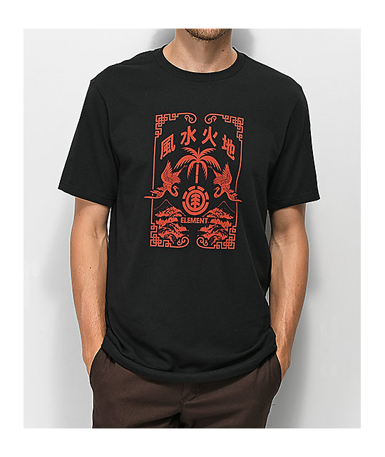 Element Bonzai Black & Red T-Shirt