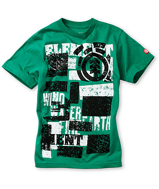 Element Boys Blockout Kelly Green T-Shirt