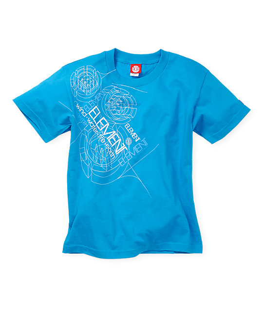 Element Boys Diode Cyan Blue T-Shirt