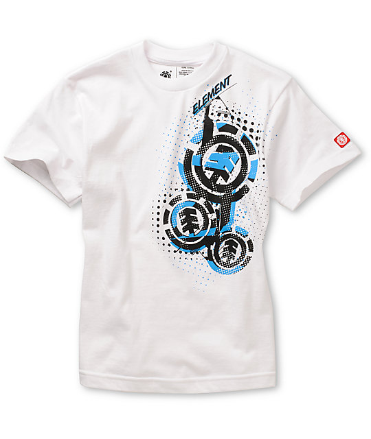 Element Boys Dots White T-Shirt
