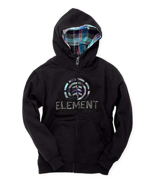Element Boys Everett Black Hoodie