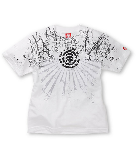 Element Boys Frantic White T-Shirt