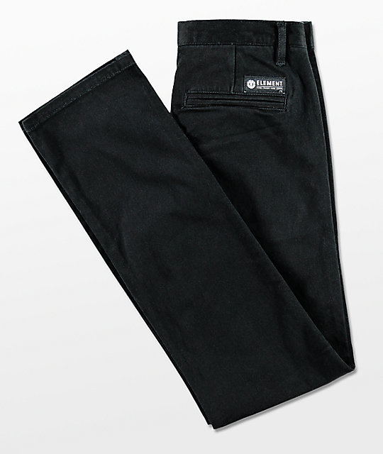 Element Boys Howland Classic Black Pants