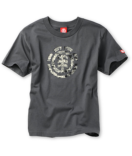 Element Boys Intelect Grey T-Shirt