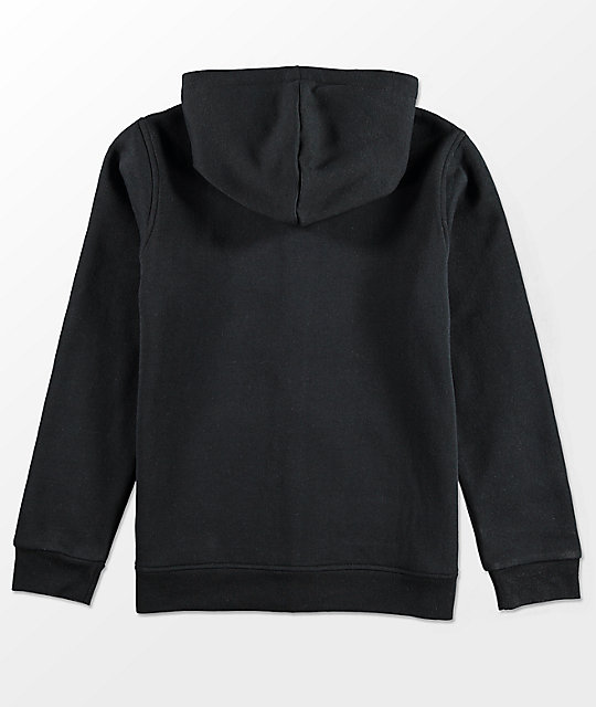 Element Boys Seal Zip Up Black Hoodie