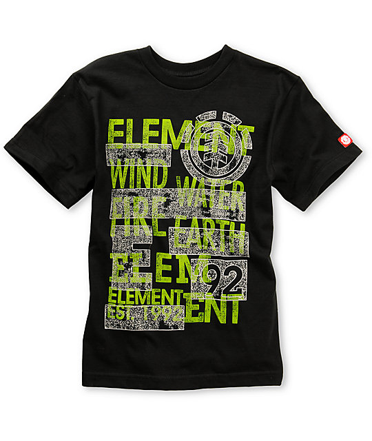 Element Boys Shock Black T-Shirt