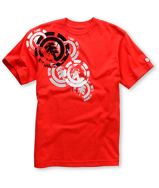 Element Boys Smoked Red T-Shirt