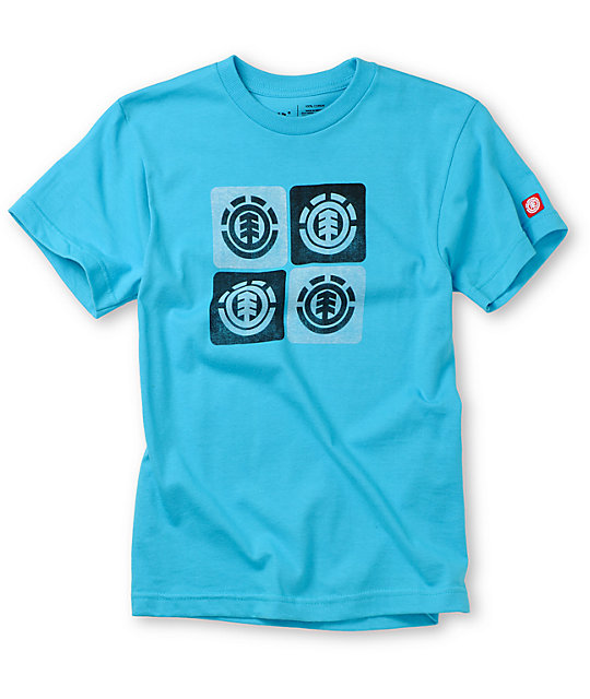Element Boys Spillway Turquoise T-Shirt