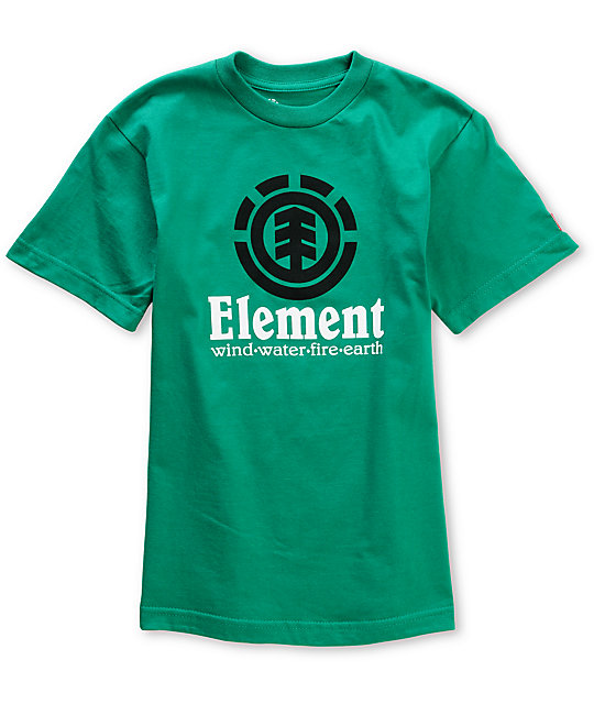 Element Boys Vertical Green T-Shirt