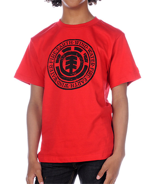 Element Boys Worn Red T-Shirt