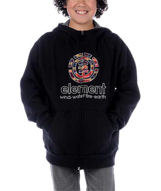 Element Boys Zion Black Hoodie