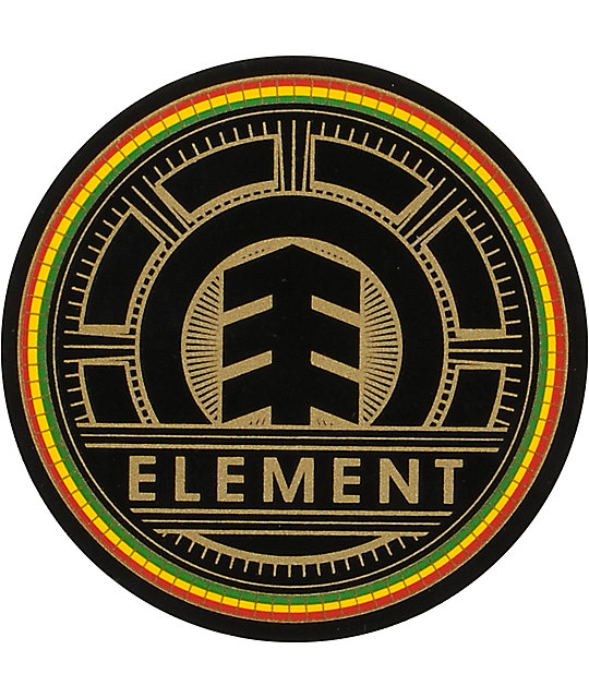 Element Bright Rasta Small Vinyl Sticker
