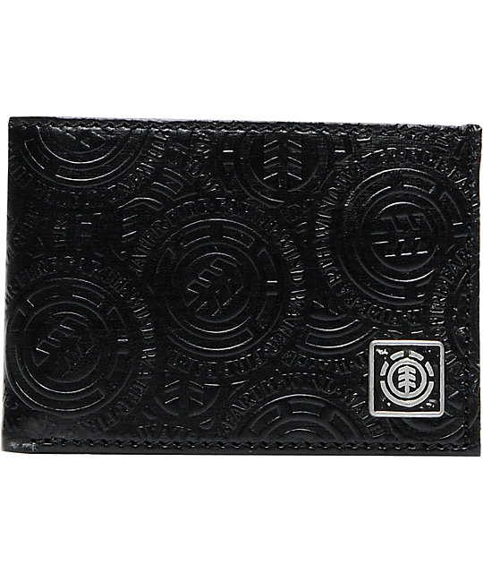 Element Coal Mine Black Bifold Wallet