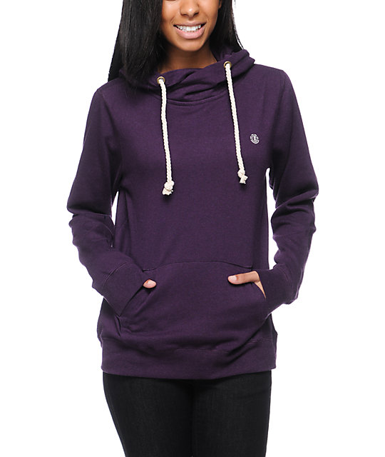 Element Conrad Eggplant Purple Pullover Hoodie