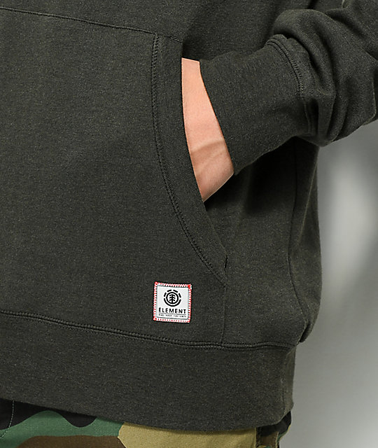 Element Cornell Black Overdyed Hoodie