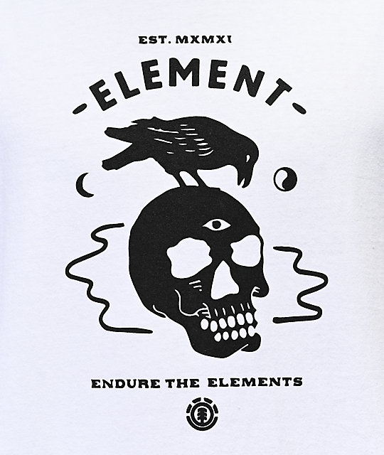 Element Crow White T-Shirt