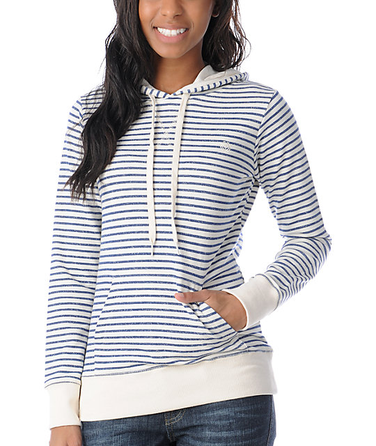 Element Dover Navy Stripe Pullover Hoodie