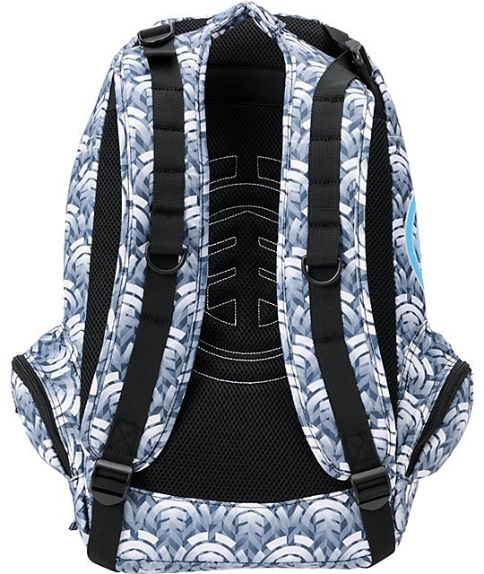 Element Girls Gamine Stacked White Backpack
