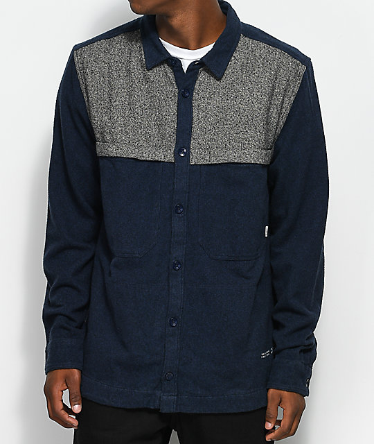 Element Greater Long Sleeve Woven Flannel Shirt