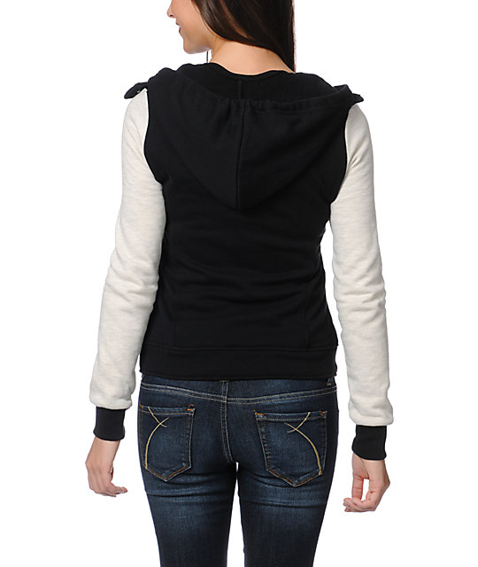 Element Julianne Black & Grey Varsity Hoodie