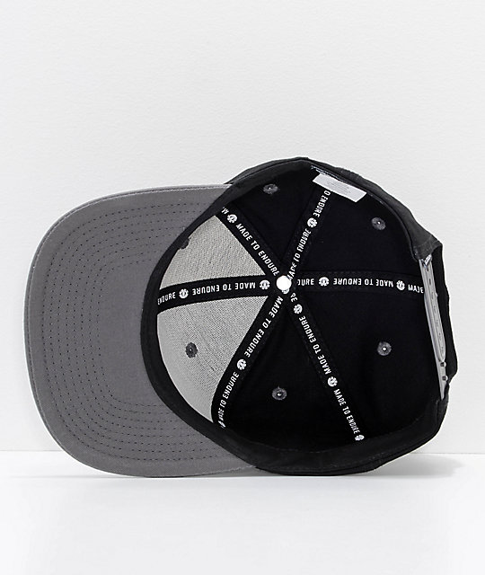 Element Knutsen Black, Charcoal & White Snapback Hat