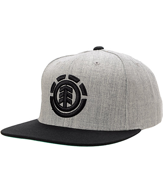 Element Knutsen Heather Grey & Black Snapback Hat