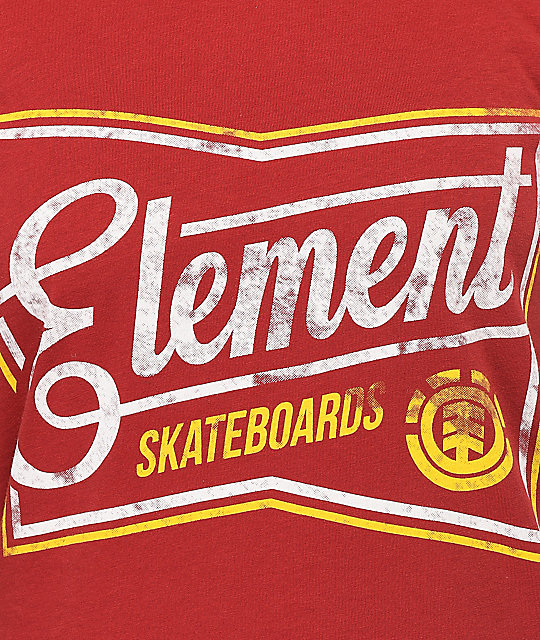 Element Label Red T-Shirt