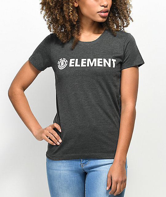 Element Logo Off Black T-Shirt