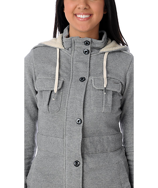 Element Mckayla Slub Grey Jacket