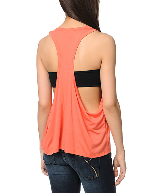 Element Medallion Coral Tank Top