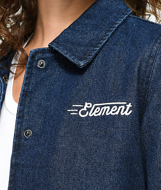 Element Melody Plus Denim Coaches Jacket