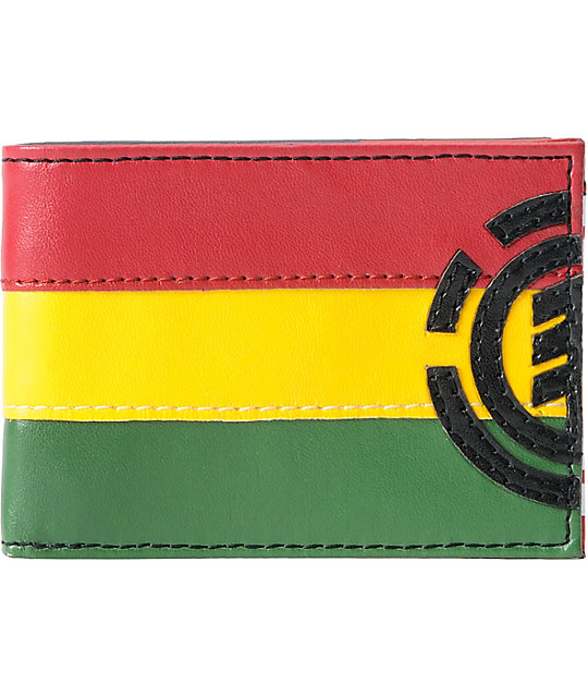 Element Mini Royal Rasta Bifold Wallet
