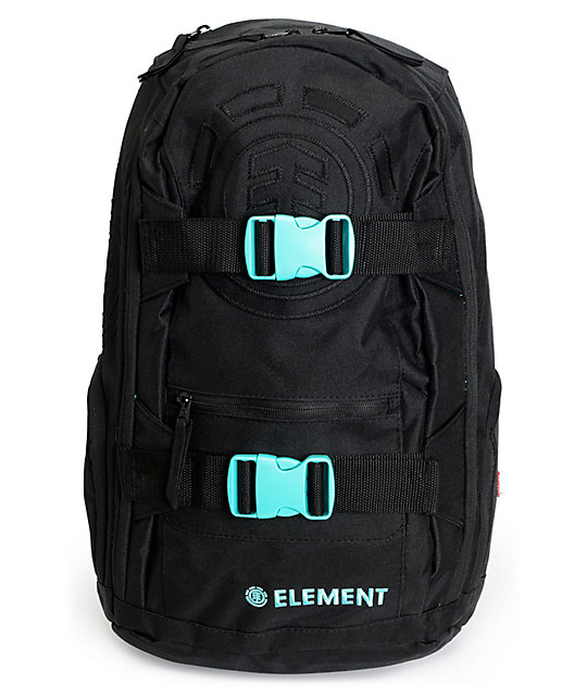 Element Mohave Duo Black & Mint Laptop Backpack